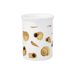 Shell pattern beverage pitcher