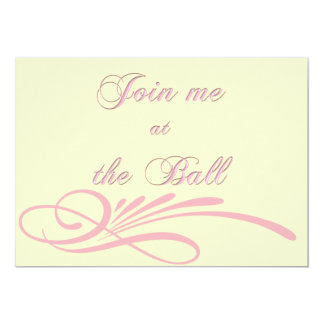 "Shell Pink Debutante Ball Invitation 5"" X 7"" Invitation Card"