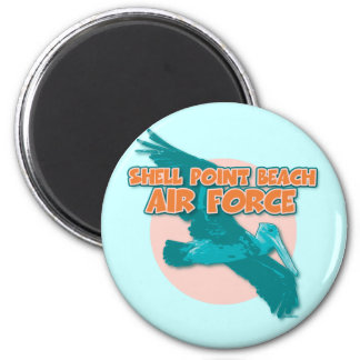 Shell Point Beach AIR FORCE 2 Inch Round Magnet