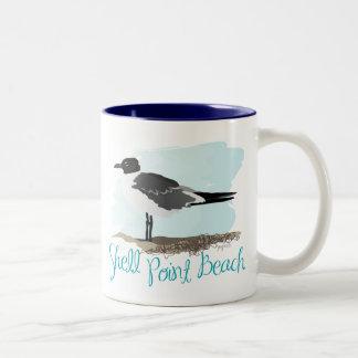 Shell Point Beach Gull Two-Tone Coffee Mug