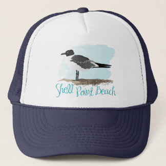 Shell Point Beach Gull Trucker Hat