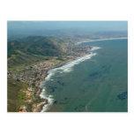 Shell postal de la opinión aérea vara/de la playa