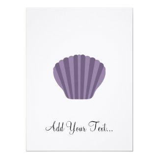 """Shell púrpura invitación 6.5"""" x 8.75"""""""