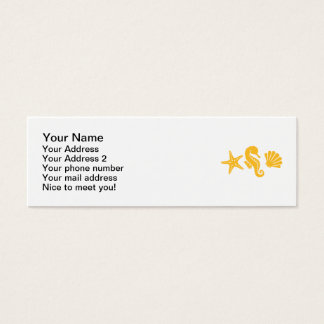 Shell seahorse star mini business card