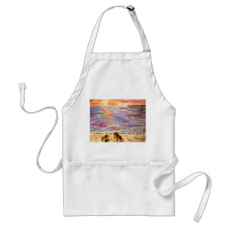 shell seekers at sunset aprons