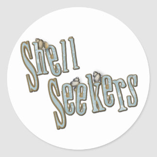 shell seekers classic round sticker