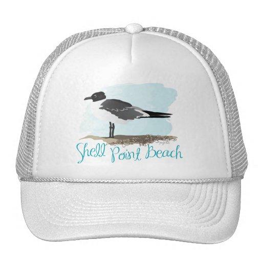 Shell señala la playa gorras
