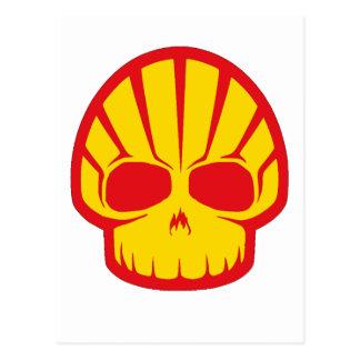 Shell Skull Postcard