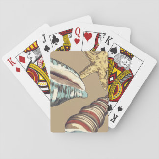 Shell Trio on Khaki Card Decks