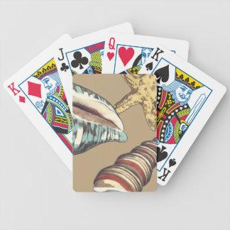 Shell Trio on Khaki Card Deck