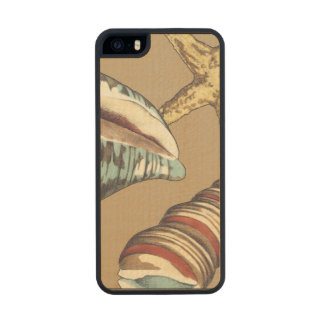 Shell Trio on Khaki Carved® Maple iPhone 5 Slim Case