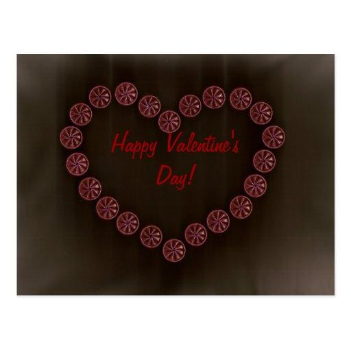 shell valentines heart postcard