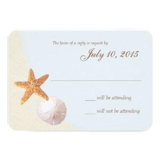Shell vara respuesta del boda de la orilla de mar
