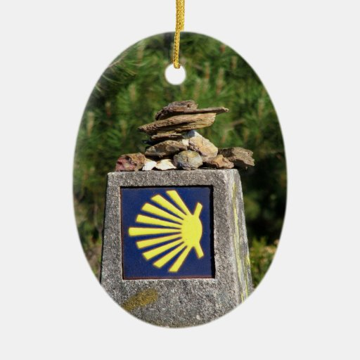 Shell way mark ornament zazzle - Ornament tapete weiay ...
