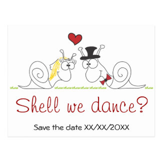 Shell we dance? - Save the date postcard