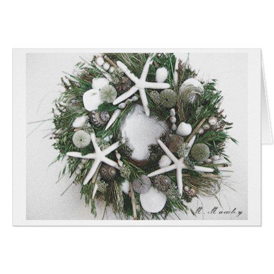 Shell Wreath Card