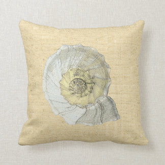 shell yellow throw pillow