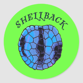 Shellback Classic Round Sticker