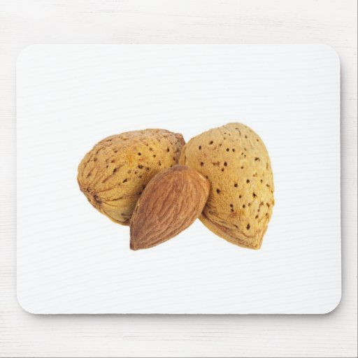 Shelled and unshelled almonds mousepads