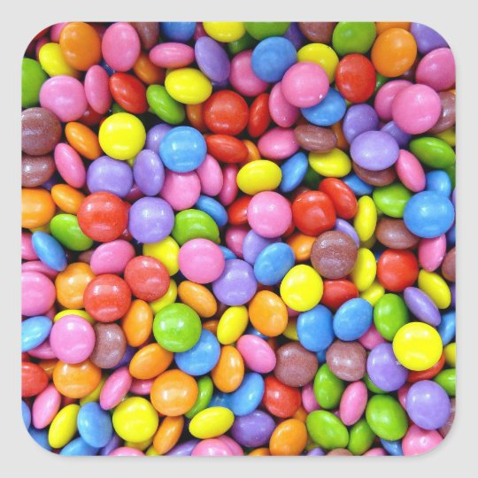 Shelled Candy Square Sticker