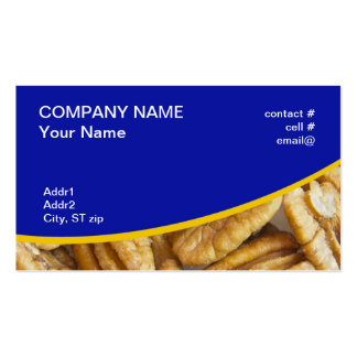 shelled pecans Double-Sided standard business cards (Pack of 100)