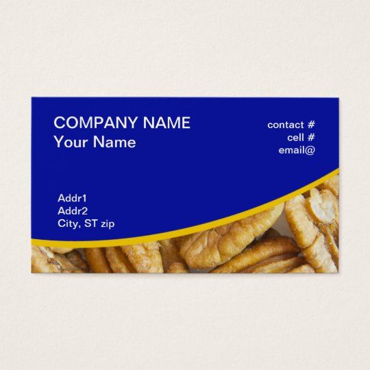 shelled pecans business card