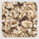 Shelled Walnuts Square Sticker