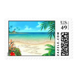 Shelley & Dan Exotic Beach Hawaiian Wedding Postage