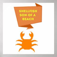 Shellfish Crab Poster