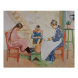 Shelling Peas, Let in More Light by Carl Larsson Poster