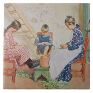 Shelling Peas, pub. in 'Lasst Licht Hinin'(`Let in Ceramic Tile