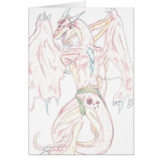 Shellis Jeweled Dragon (Blank) Notecard