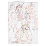 Shellis Jeweled el dragón Notecard (en blanco) Tarjeton