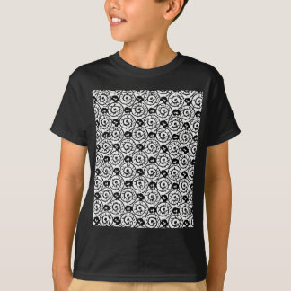 Shells and Flowers Black and White T-Shirt