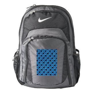 Shells and Flowers Blue Nike Backpack