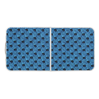 Shells and Flowers Blue Pong Table