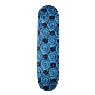 Shells and Flowers Blue Skateboard