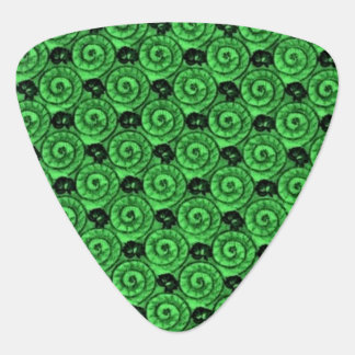 Shells and Flowers Green Guitar Pick