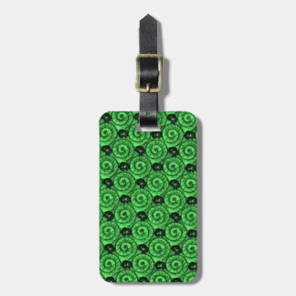 Shells and Flowers Green Luggage Tag