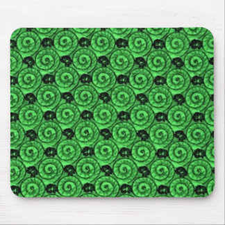 Shells and Flowers Green Mouse Pad