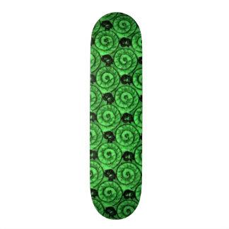 Shells and Flowers Green Skateboard Deck