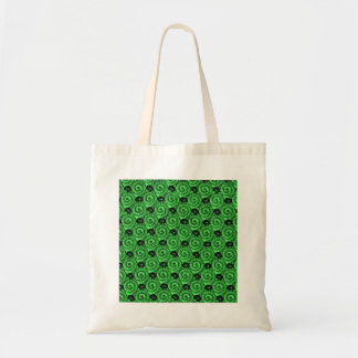 Shells and Flowers Green Tote Bag