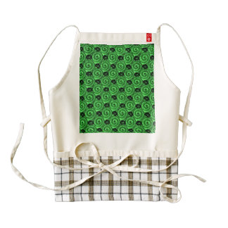 Shells and Flowers Green Zazzle HEART Apron