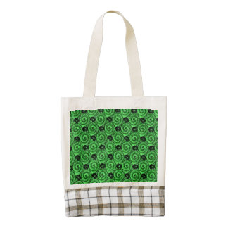 Shells and Flowers Green Zazzle HEART Tote Bag
