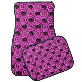 Shells and Flowers Pink Car Mat