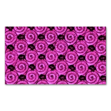 Beach Themed Shells and Flowers Pink Magnetic Business Card