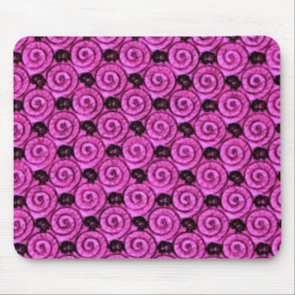 Shells and Flowers Pink Mouse Pad