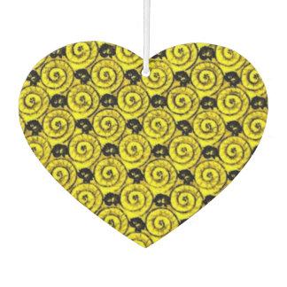 Shells and Flowers Yellow Car Air Freshener