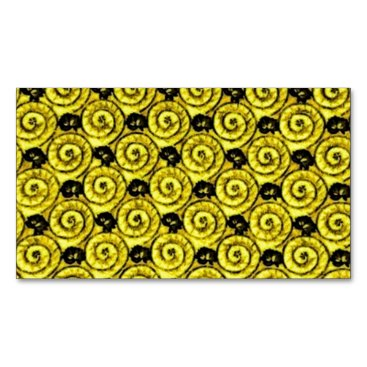 Beach Themed Shells and Flowers Yellow Magnetic Business Card