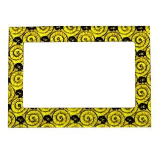 Shells and Flowers Yellow Magnetic Photo Frame